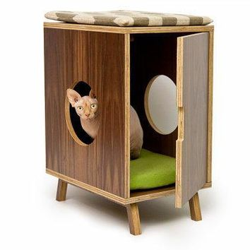 Mid Century Modern Pet Furniture // Cat Litter Box Cover // Pet House
