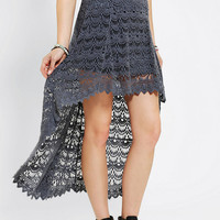Urban Outfitters - Ecote Crochet Waterfall Maxi Skirt