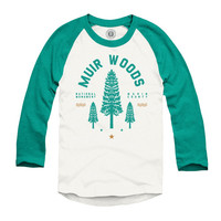 Muir Woods Redwood Raglan Tee
