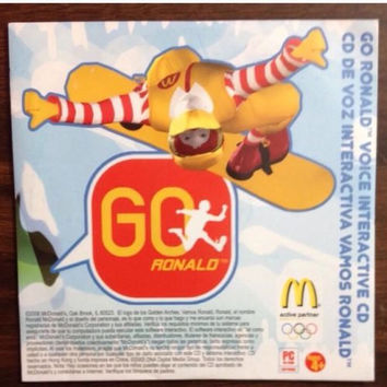 CD-Rom McDonalds Go Ronald Voice Interactive CD Game 2006 Disk Only