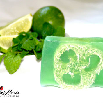 Mojito (Peppermint Mint & Lime) Loofah Soap