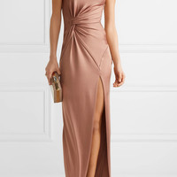 Cushnie et Ochs - Denise one-shoulder stretch-satin gown