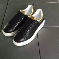 Ready Stock Alexander Mcqueen Women's Leather Fashion Lace-up Sneakers Shoes #58