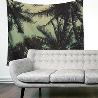 Tropical Beach Palm Trees Boho Wanderlust Unique Dorm Home Decor Wall Art Tapestry