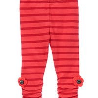 Striped Poppy Leggings