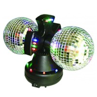 Twin LED Mirrored Balls