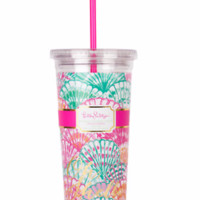 Lilly Pulitzer Tumbler with Straw-Oh Shello