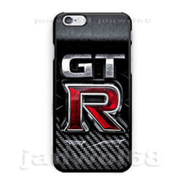 Nissan GTR logo Carbon For iPhone 6 6s 6+ 6s+ 7 7+ Print On Hard Plastic Case