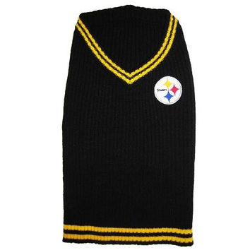 Pittsburgh Steelers Pet Sweater LG