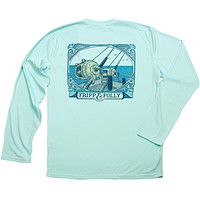 Saltwater Reels Long Sleeve Wicking Tee Shirt in Seagrass by Fripp & Folly - FINAL SALE