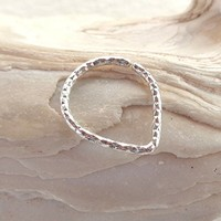 Septum Ring Triangle Tribal Diamond Cut Nose Ring,Daith piercing ring,cartilage,helix,tragus,ear hoop earring