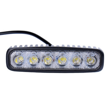 6inch 18W 12V LED Daytime Running Light Car Light Bar for Car Indicator Motorcycle Driving Offroad Tractor Truck 4x4 SUV ATV