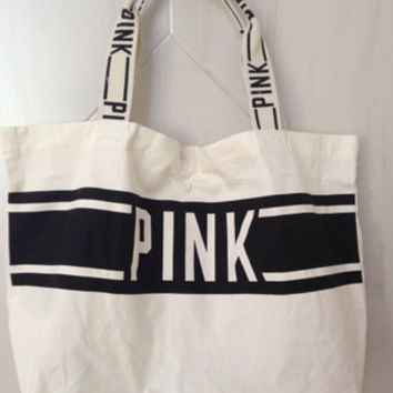 Victoria's Secret Like pink black and white handbag bag _ 9340