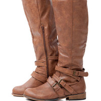 PARKSVILLE BUCKLE RIDING BOOT IN BROWN