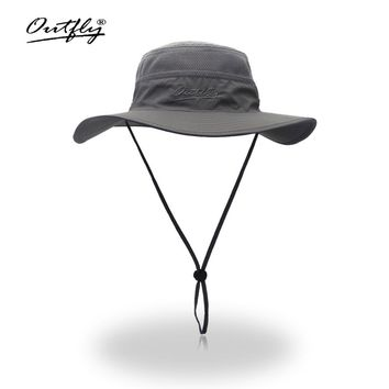 Camouflage Boonie Bucket Hats Camo Fisherman Hats With Wide Brim Sun Fishing Bucket Hat Breathable mesh polyester quick cut