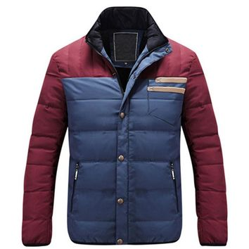 2017 Down Jackets Brand New Thick Padded Jacket 90% White Duck Down Mens Fashion Casual Winter Thick Coats Mens Warm Plus X594