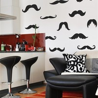 Ironic Mustache Wall Decals- WALLTAT.com