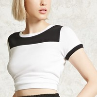 Colorblock Cropped Tee