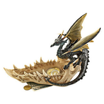 """""""Jaw of the Dragon"""" Offering Dish - QS91305 - Design Toscano"""