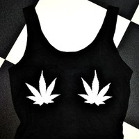 SWEET LORD O'MIGHTY! WEED TITS IN BLACK