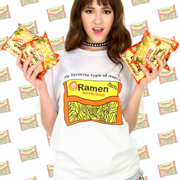 MY FAVORITE TYPE OF MEN IS RAMEN TEE
