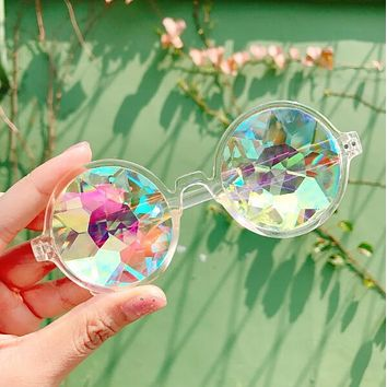 Stylish Unisex Kaleidoscope Glasses Cute Psychedelic Sunglasses