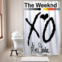 XO The Weeknd shower curtain