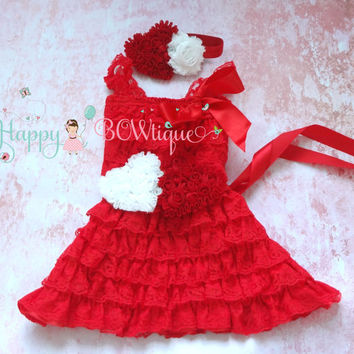SALE, Red Heart Valentine Lace Dress, Valentines dress, red Dress,baby dress,Birthday outfit,girls dress,wedding,baby girls dress,Valentines