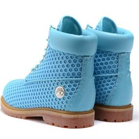 Timberland Icon 6-inch Premium Classic Blue Waterproof Boots