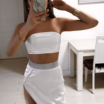 Myla Satin Two Piece Outfit