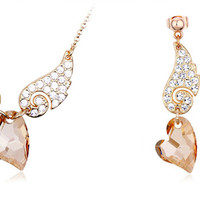 Swarovski Element Crystal Angel Wing Jewelry Set