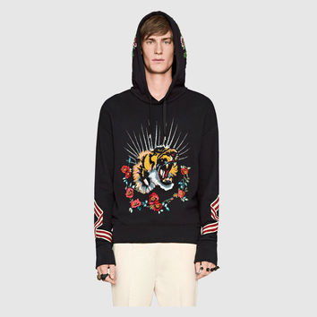 Gucci Cotton sweatshirt with embroideries