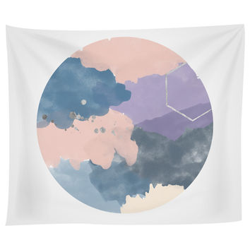 Pink Purple Abstract Tapestry