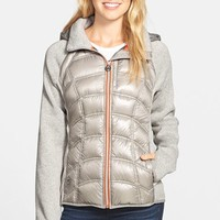 Women's MICHAEL Michael Kors Hooded Down & Knit Jacket,