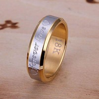 Free Shipping Silver plated  Ring Fine Fashion jewelry Love Steel Ring Women&Men Gift Silver Jewelry Finger Rings SMTR095