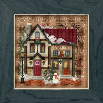 Mill Hill Cobbler Christmas Village Buttons and Beads Counted Cross Stitch Kit