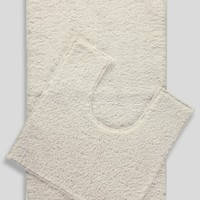 2 Pack Easy Dry Bath Mat and Pedestal Mat Set - Matalan