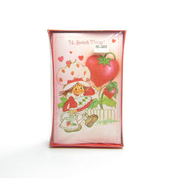 Strawberry Shortcake Valentine Cards Set of 12 with Envelopes, MIB NOS for Valentine's Day