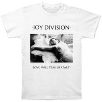 Joy Division Men's  Love Will Tear Us Apart Slim Fit T-shirt White