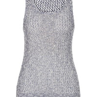 Silver Jeans ® Open Stitch Knit Tank - Navy