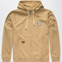 Volcom Programer Mens Zip Hoodie Dark Khaki  In Sizes