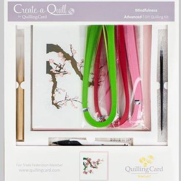 Quilling Card Advanced Learning Level Greeting Card Kit- Cherry Blossom