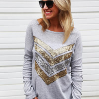 Show Me Your Sequin Tunic {Grey}