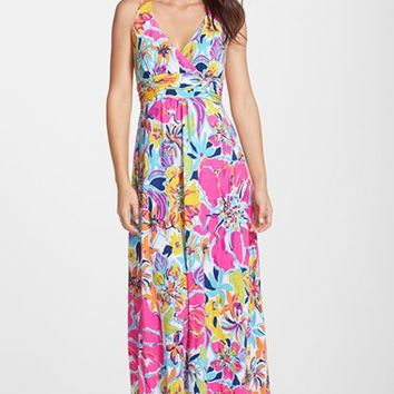 Women's Lilly Pulitzer 'Amada' Print Tie Back Maxi Dress