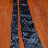 Vintage Necktie Men's Reini Leide Brown//Blue