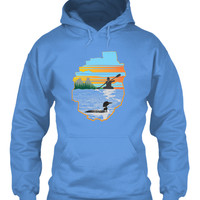 Women Paddler in Adirondacks Hoodie