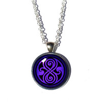 Seal of Rassilon Necklace - Doctor Who Necklace Seal of Rassilon Pendant Seal of Rassilon Jewelry