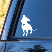 Pitbull Heart Decal | Pitbull Mom Decal | Dog Mom Decal | Dog Dad Decal | Dog Family Decal | Love Sticker | Love Decal  | 174