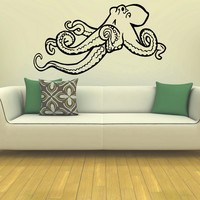 Wall Decal Vinyl Sticker Animal Octopus Sea Ocean Decor Sb406