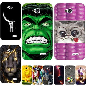 New Hello Kitty juventus leeco marvel Cat Phone Back Cover Case For LG Optimus L65 Dual D285 D280 L70 D325 D320 Case For LG L70